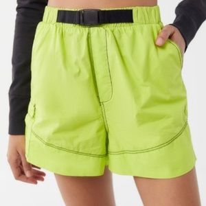 Urban Outfitters bright neon cargo shorts